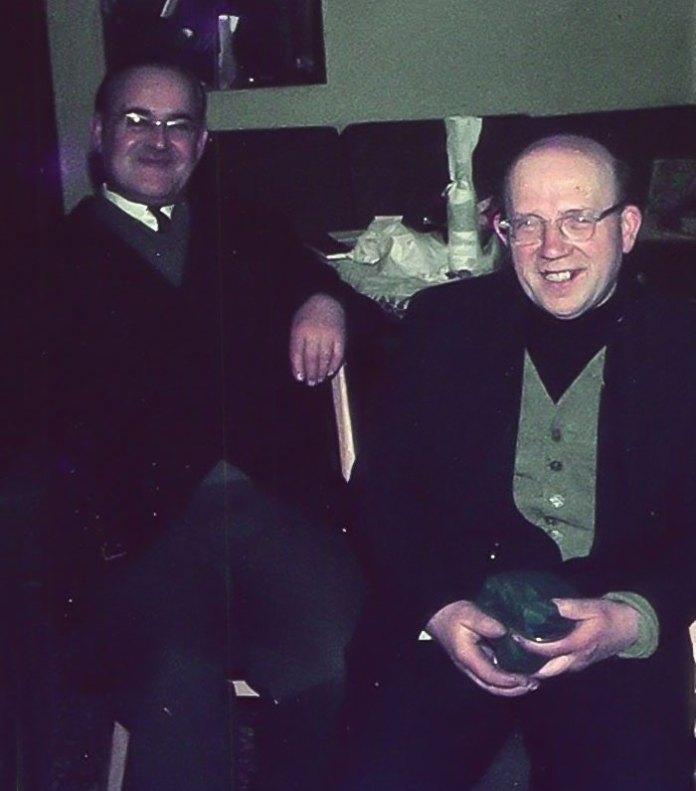 Отець Ян Ярош (праворуч). Світлина 1969 р.