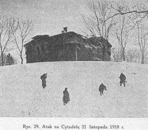 Львів, піхота на Цитаделі. Фотографія 1918 року