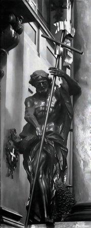 Скульптура Івана Хрестителя в церкві Пресвятої Євхаристії у Львові