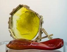 """Анда Мункевіца """"Моя муза у світлі місяця"""" та """"Моя муза в теплі"""".10-й Міжнародний симпозіум гутного скла (2016).Фото: Ксенія Янко"""