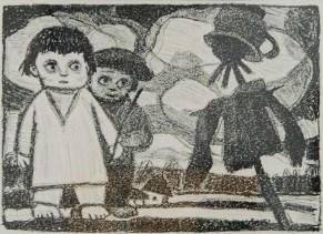 """Леопольд Левицький """"Страхополох"""" (папір, літографія) 1960-і роки"""