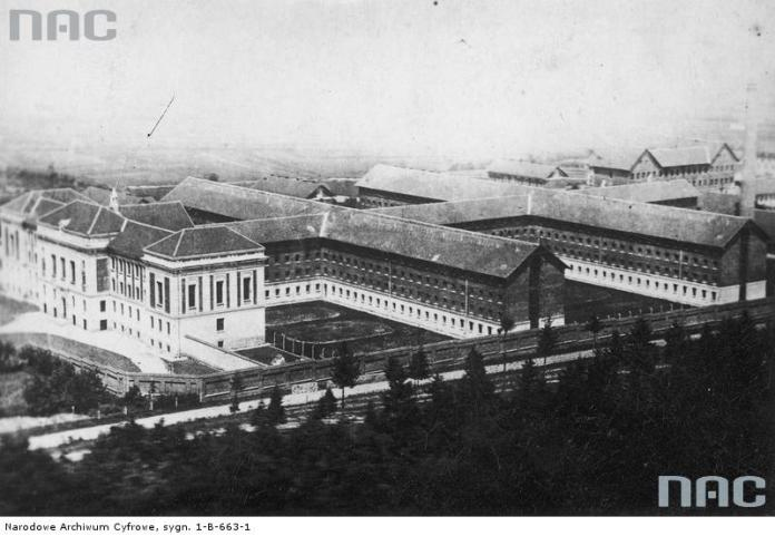 Загальний вид на корпуси тюрми Бригідки в Дрогобичі. Фото 1930-х рр.