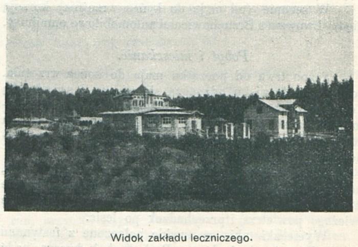 Вид на лікувальний заклад в Брюховичах. Фото початку 20 ст.