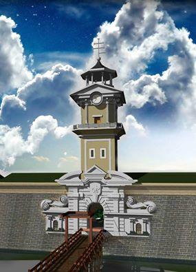 Кольорова реконструкція Бродівського замку авторства Володимира Чопа