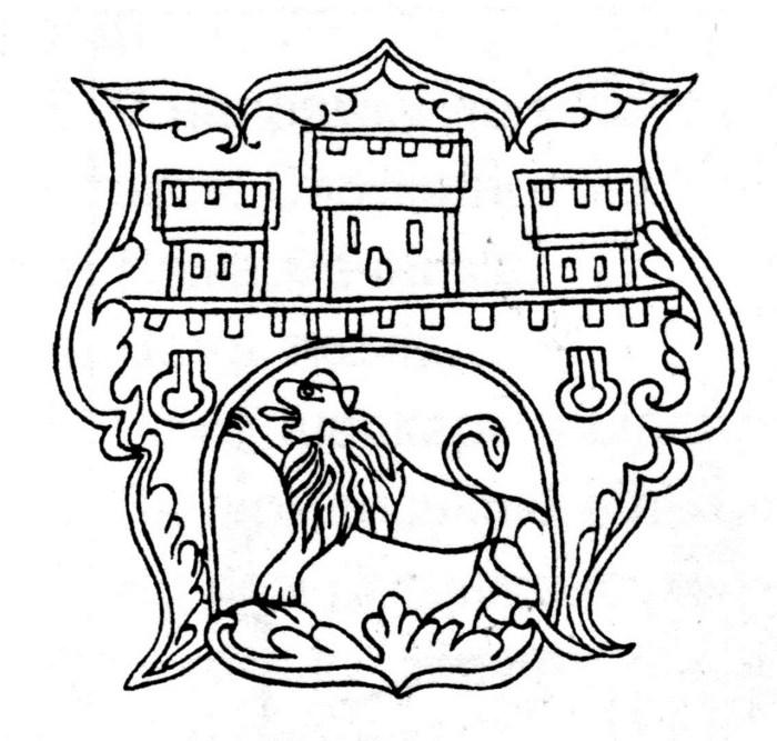Герб Львова на знаку цеху золотарів
