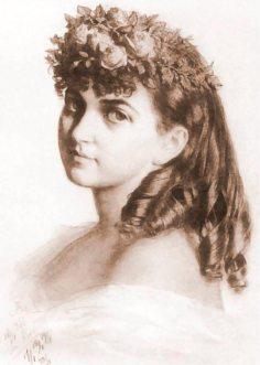 Артур Ґроттґер.Портрет Ванди Монне, 1866 рік