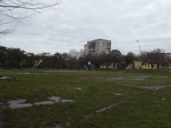 Спортивний майданчик 31 школи міста Львова на місці колишнього маєтку Станіслава Стажинського