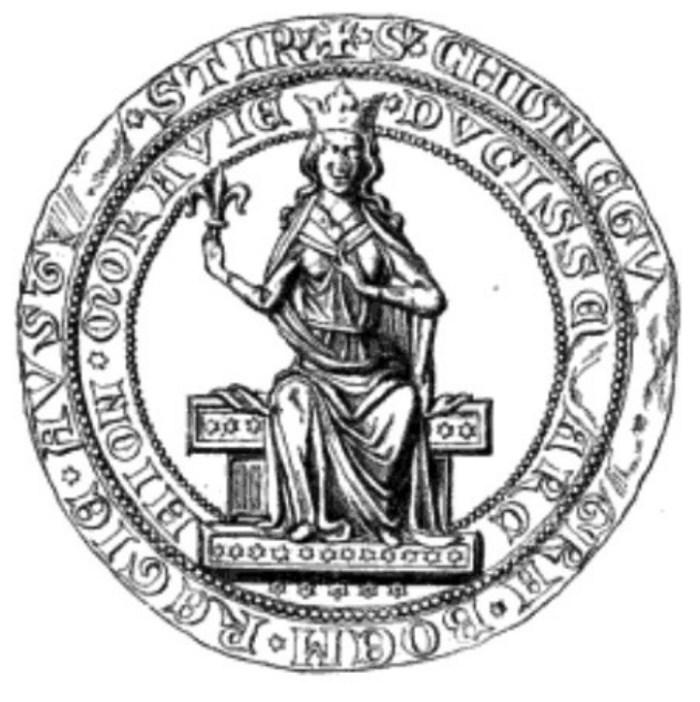 Печатка Кунігунди. Фото з http://historie.stoplusjednicka.cz/nova-laska-i-syn-druhy-zivot-kunhuty-halicske