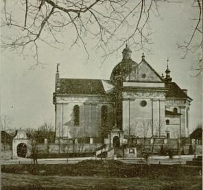 Костел Лаврентія в Жовкві. Фото 1903 року