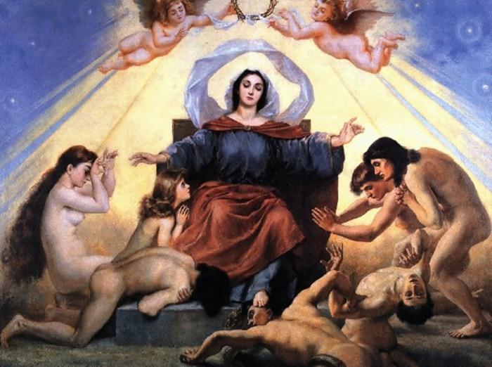 З циклу «Тріумф Прогресу» «Богородиця втішає віруючих»