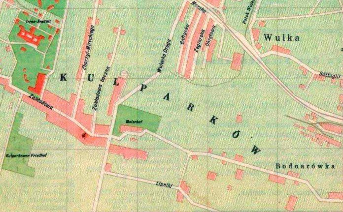 План Львова 1942 року, на котрому на місці 31 школи позначено будинок адміністрації або дідичів План Львова 1942 року, на котрому на місці 31 школи позначено будинок адміністрації або дідичів