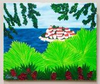 Експозиція виставки живопису Наталі Бартків «Вічний сад».