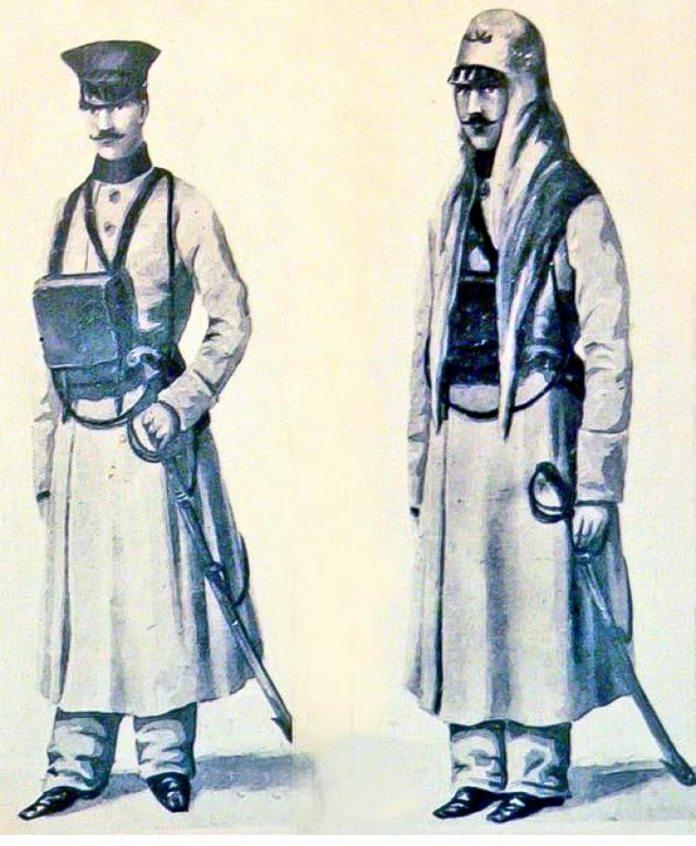 Поштові службовці, рисунок 1867 року
