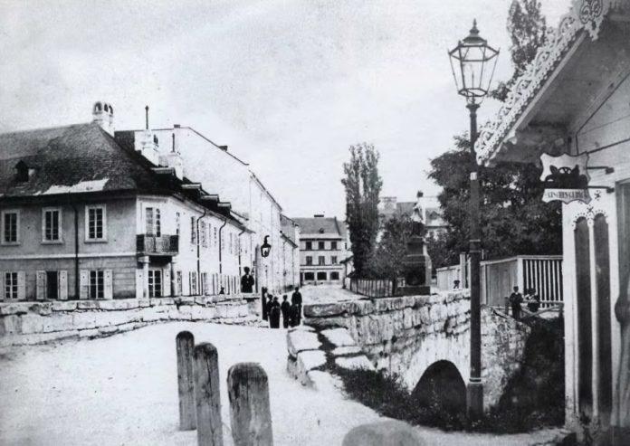 Місток на площі Св. Іона (пр.Шевченка). Фото 1861-1871 рр.