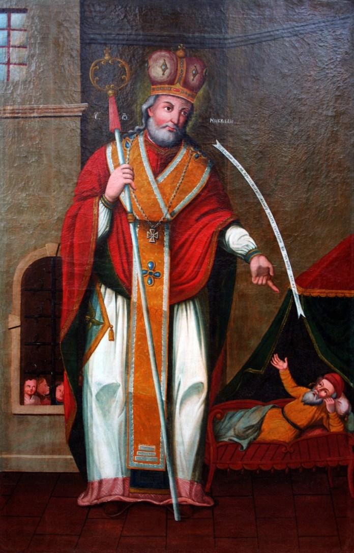 Чудо «З'явлення царю Константину» святого Миколая уві сні