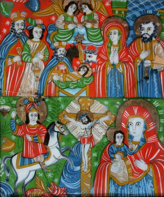 Гуцульська ікона Різдва Христового