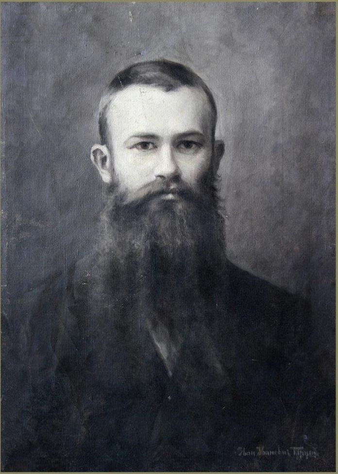 Іван Труш. Портрет Михайла Грушевського. 1898 рік, полотно, олія, гризайль