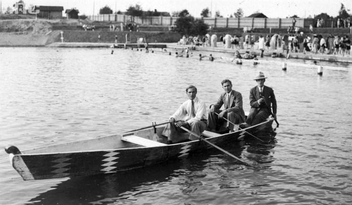 Трускавець. Урочище Помірки. Соляно-сірчаний басейн та інфраструктура літнього курорту, 30-і роки ХХ ст.