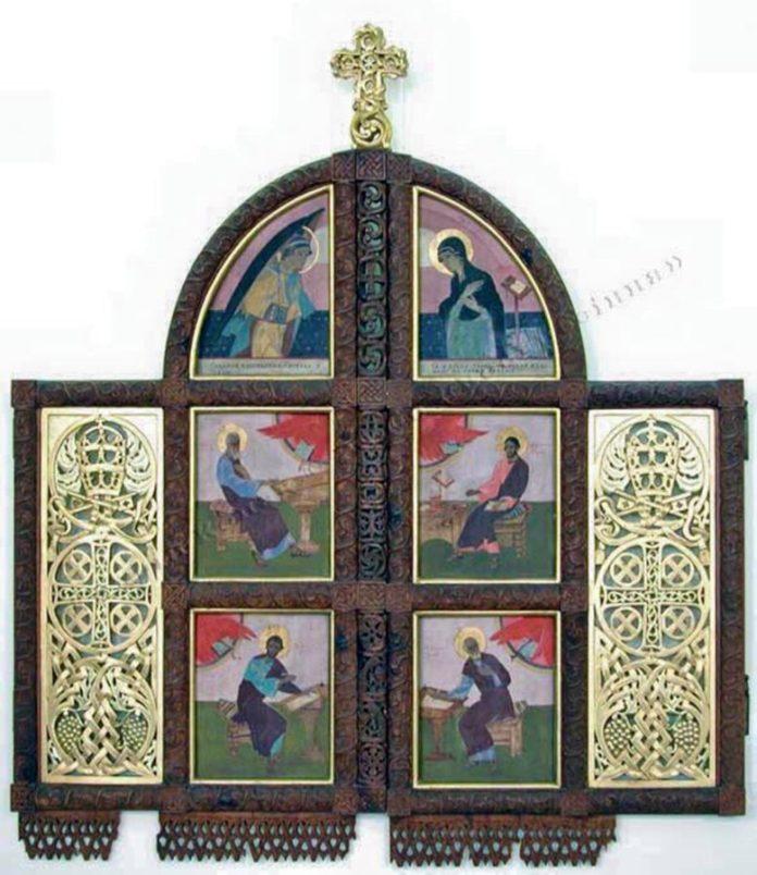 П.І.Холодний. Царські врата Святодухівського іконостасу (різьба А.Коверка). 1926-1927.