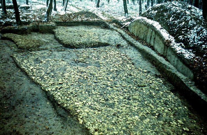 Вид на Білу Дорогу, фрагмент камяного брук ІХ-Х ст. Світлина з архіву О. Корчинського