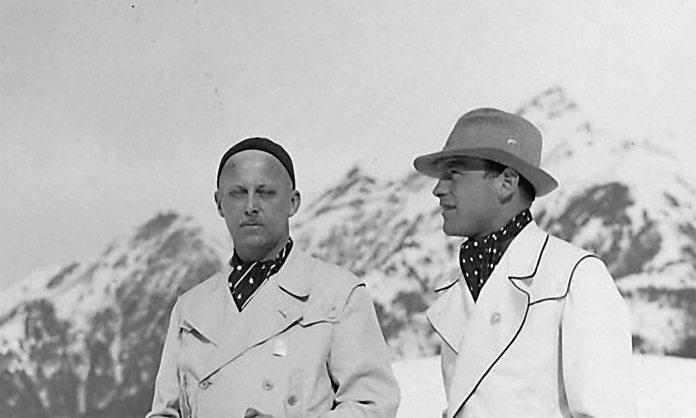 Вільгельм Габсбург на гірськолижному курорті з одним зі своїх друзів. 30-ті роки ХХ століття