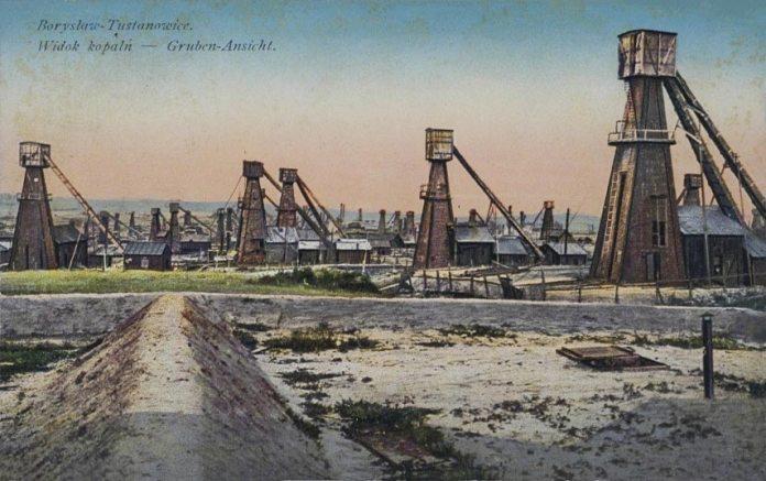 Нафтові вишки в Бориславі, 1914 рік