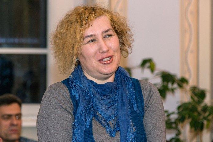 Письменниця Любов Відута на творчій зустрічі-знайомстві з письменницею та журналісткою Людмилою Пуляєвою-Чижович