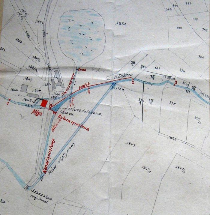 Млин у Вовкові (план-схема)