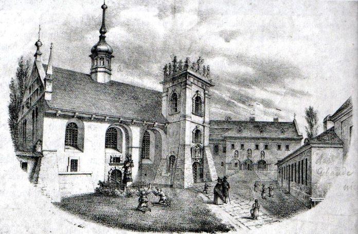 Монастир сестер Бенедиктинок у Львові (літографія)