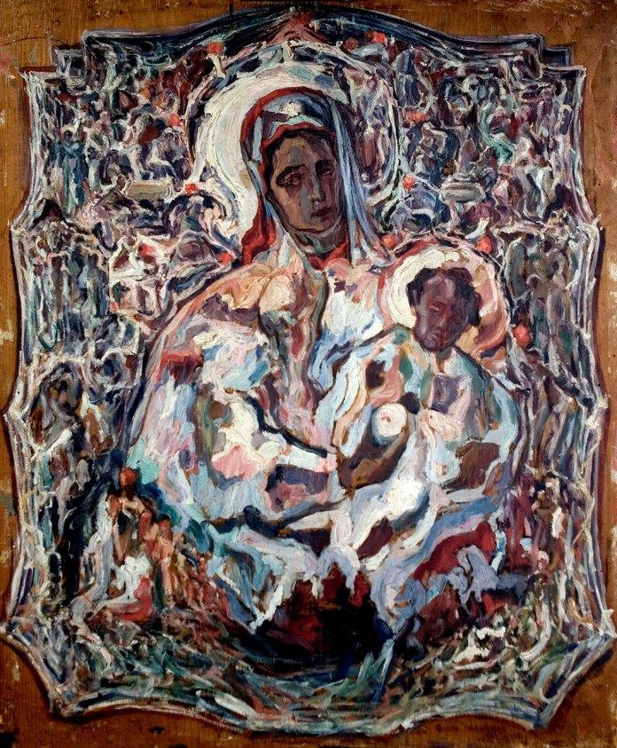 Олекса Новаківський. Мадонна у срібній ризі. 1923; Дошка, олія.