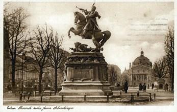 Пам'ятник Яну ІІІ Собеському. Тепер знаходиться у польському Гданську. Фото А. Ленкевича. Джерело: https://polona.pl