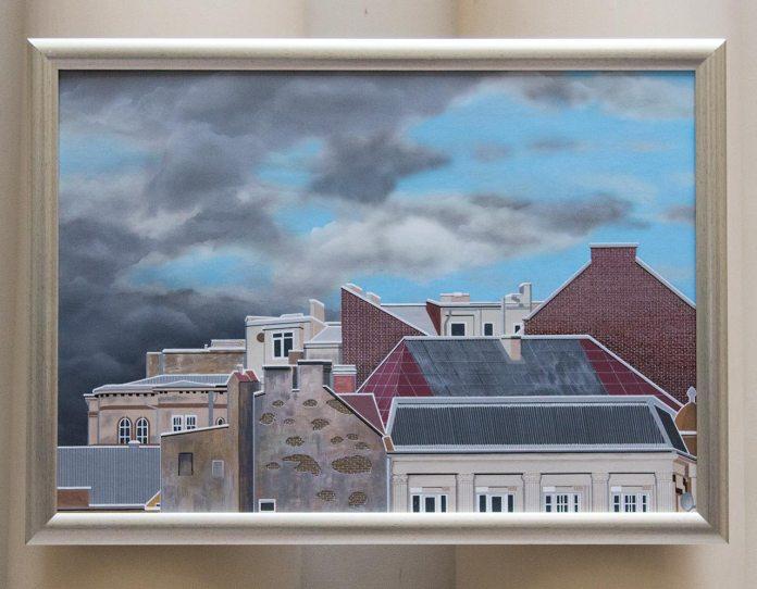 Експозиція виставки Андре Ван Дер Вендена «Картини без кордонів. Україна – Польща – Нідерланди»