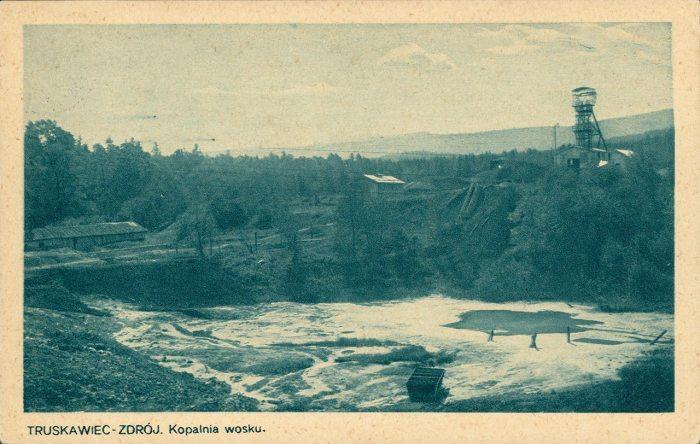Копальня озокериту біля Трускавця. Поштівка 1918 року