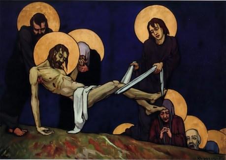 """Олена Кульчицька. Положення до гробу . Із циклу """"Страсті Христові"""". 1915 р."""