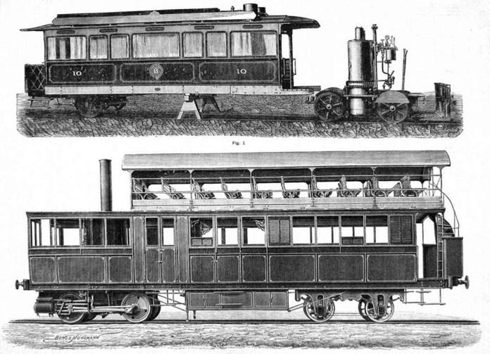 Зразки парового трамваю