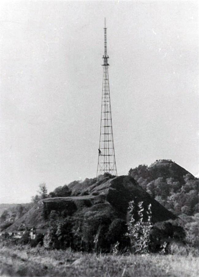 Телевежа на Високому Замку незадовго після свого спорудження. Фото 1957-1960 рр.