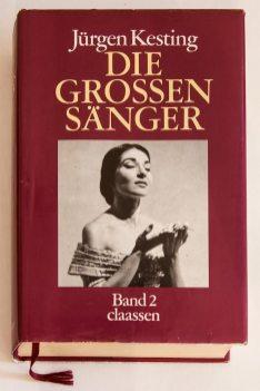 Обкладинка другого тому Jűrgen Kesting. Die grossen Sänger. Dűsseldorf. Claаssen Verlag, 1986