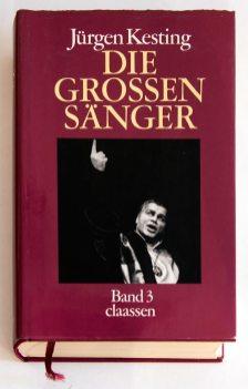 Обкладинка третього тому Jűrgen Kesting. Die grossen Sänger. Dűsseldorf. Claаssen Verlag, 1986