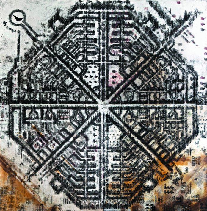 Павло Маков. Донроза, 2008-10, багаторазове інтагліо (понад 50 дощок), малюнок, акрил, папір