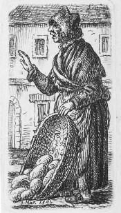Каєтан Вінцент Кєлісінський. Львів. Літня торговка хлібом, 1841