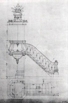Костел Кларисок. Проект амвону, 1898 р.