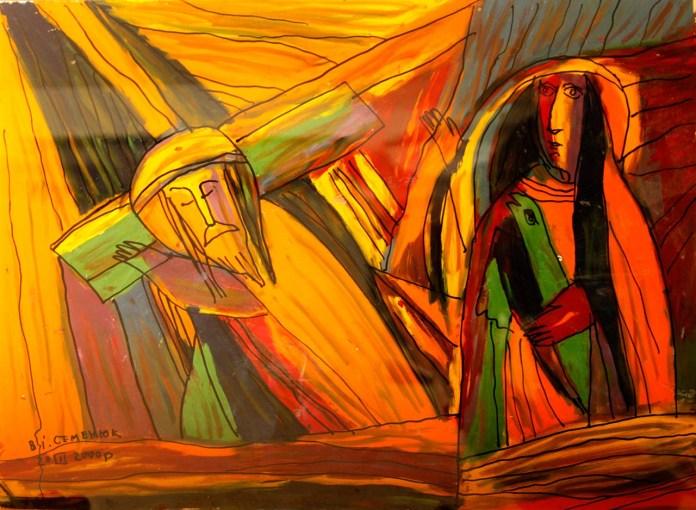 Експозиція ювілейної виставки творів художника Василя Семенюка