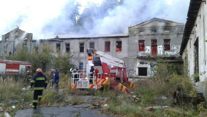 Пожежа на колишньому «Винзаводі» у Львові