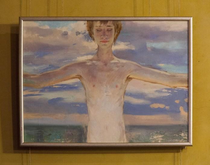 Експозиція виставки Катерини Білетіної під назвою «Прогулянка морем»