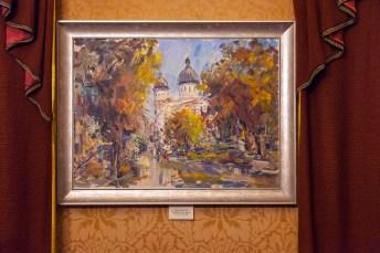 Експозиція виставки художніх робіт, присвяченої 145-річчю від дня народження співачки.