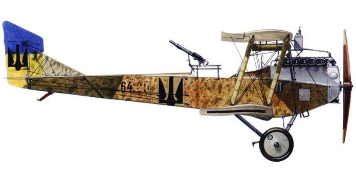 """Дмовісний літак-розвідник """"Бранденбург"""" Ц.1 64-ї серії, зі складу 2-ї летунської сотні Галицької армії, весна 1919 року"""