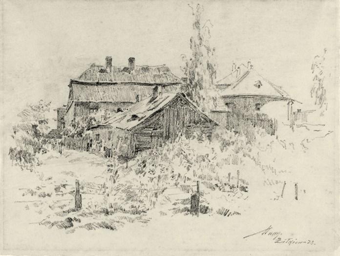 Манн Александер. Дворики в Жовкві, 1923 рік