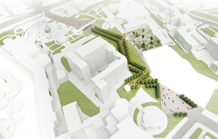 Проект меморіального комплексу з висоти