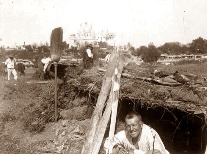 с. Скоморохи Сокальського району Львівської області (1914-1918). Фото з Австрійського державного архіву.