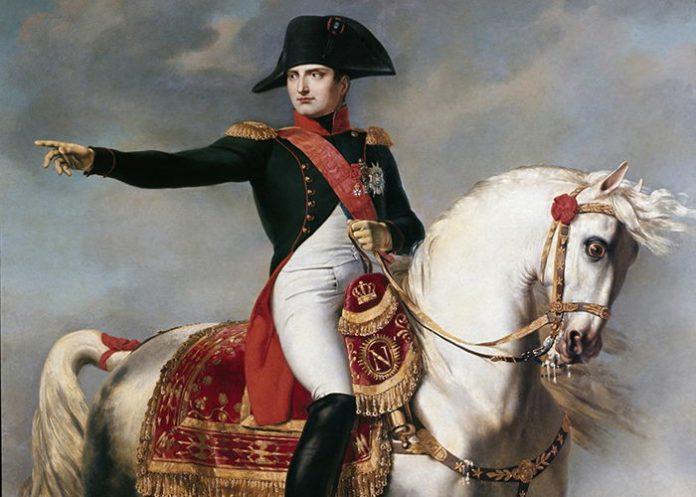 Портрет Наполеона Бонапарта. Фрагмент картини Джозефа Чаборда 1786-1848. Музей Наполеоніко, Рим, Італія
